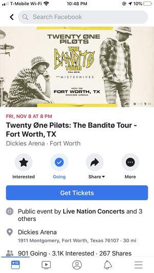Twenty one pilots Fort Worth for Sale in Dallas, TX