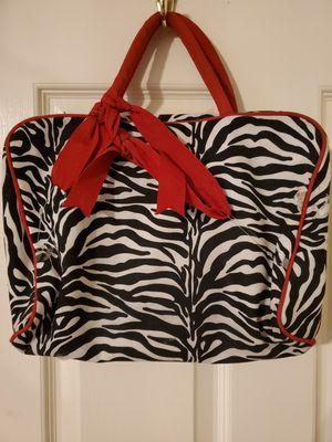 New Super Cute Zebra Print Bag with matching makeup Bag inside for Sale in Las Vegas, NV