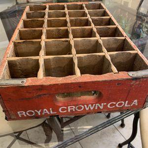 Vintage Royal Crown Bottle Crate $60 for Sale in Katy, TX