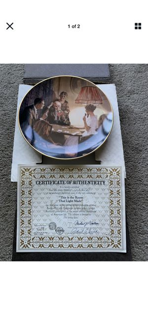 """New vintage """"that light made""""Rockwell collection plate for Sale in Richmond, CA"""