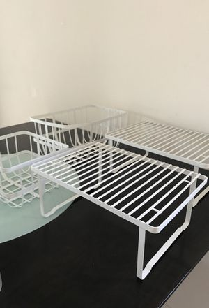 Cabinet Storage Containers + Stacking Shelves for Sale in Irvine, CA