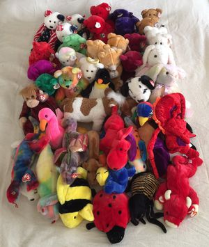 TY Beanie Babies LARGE ASSORTED Collection (49 Pieces) - Adult Owned Collection. EXCELLENT CONDITION / CLEAN / ALL RETIRED. for Sale in Stockton, CA