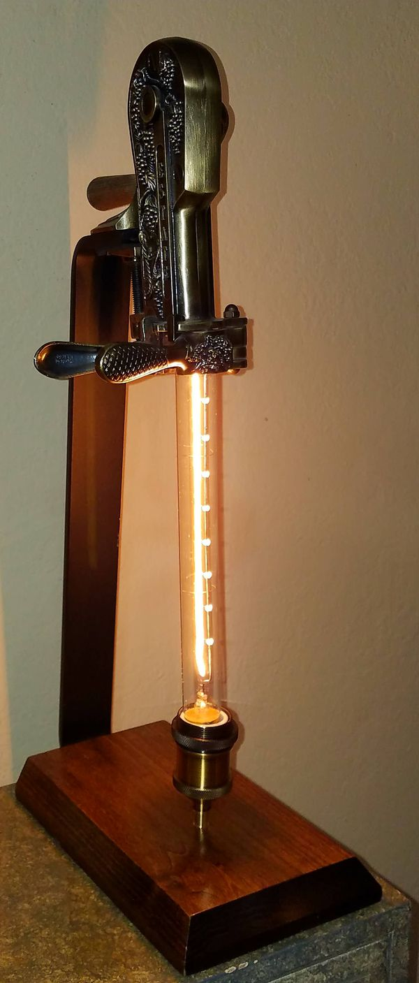Wine Bottle Opener Lamp