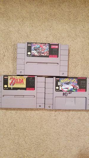 3 super Nintendo games. for Sale in Krum, TX