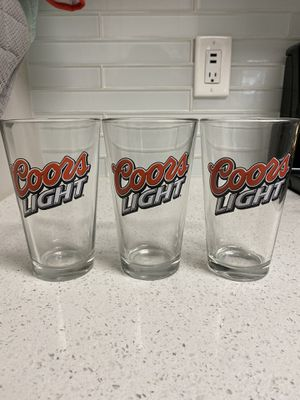 Coors Light Glasses (Set of 3) for Sale in San Jose, CA
