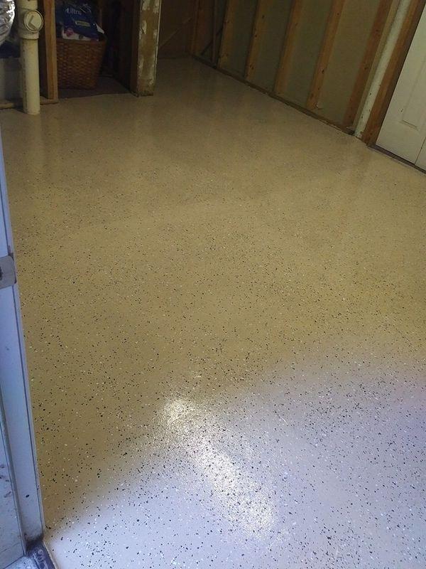 Epoxy floors.