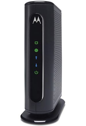 MOTOROLA 8x4 Cable Modem, Model MB7220, 343 Mbps DOCSIS 3.0, Certified by Comcast XFINITY, Time Warner Cable, Cox, BrightHouse, and More (No Wireless) for Sale in Elizabeth, NJ