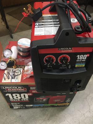 New open box- Lincoln Electric 180HD Weld-Pack for Sale in Puyallup, WA
