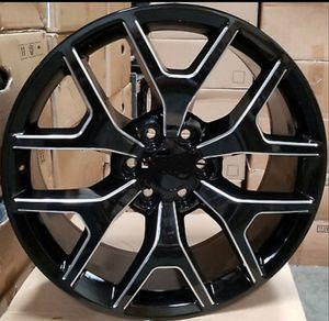 "26"" 26x10 6x139.7 +31 Black Mill Wheels Rims Tires available 295/30-26 GMC YUKON SIERRA DENALI CHEVY 1500 TAHOE SUBURBAN LTZ CADDILAC ESCALADE for Sale in Bellflower, CA"