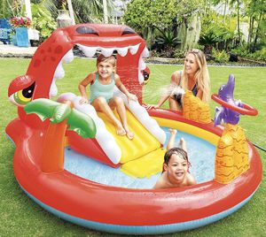 Intex Happy Dino Inflatable Play Center Kids pool with water slide BRAND NEW IN BOX NEVER OPENED for Sale in Lynwood, CA