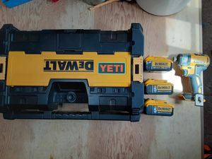 Dewalt, radio, impact, and 3 batteries for Sale in Dell Rapids, SD