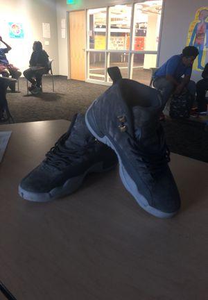 Grey Wool Jordan 12's for Sale in Detroit, MI