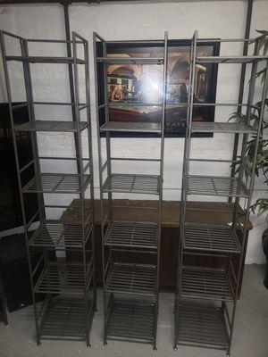 3 industrial metal wire storage racks for Sale in Franklin Park, IL