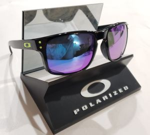 Oakley Holbrook Sunglasses Polished Black / Purple Blue Polarized 9102-16 USA 55-18 for Sale in Norwalk, CA