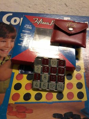 TWO GAMES CONNECT 5 AND FIFTEEN PUZZLE for Sale in Brick, NJ