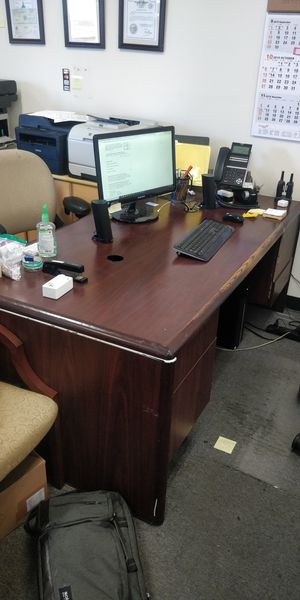 Wooden Office desks and chairs for sale for Sale in Los Angeles, CA