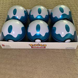 Pokemon Dive Ball Empty Tin Set (6) for Sale in Auburn, WA