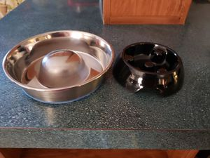 Slow feed dog/cat food bowls for Sale in Bedford, VA