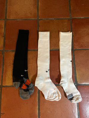 Nike Soccer Socks - 3 Pairs (1 Black/2 White) for Sale in San Diego, CA