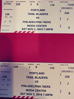 Blazers Vs 76ers for Sale in Vancouver, WA