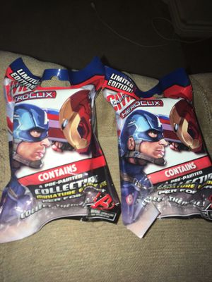 Heroclix Captain America Civil War 2016 Marvel 2 Mint In Sealed Foil Figures MISB NECA for Sale in Austin, TX