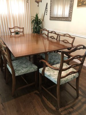 Vintage Bohemian Antique Wood Dining Table and Chair set for Sale in Glendora, CA