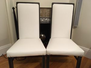 White Vinyl Leather Chairs for Sale in DORCHESTR CTR, MA