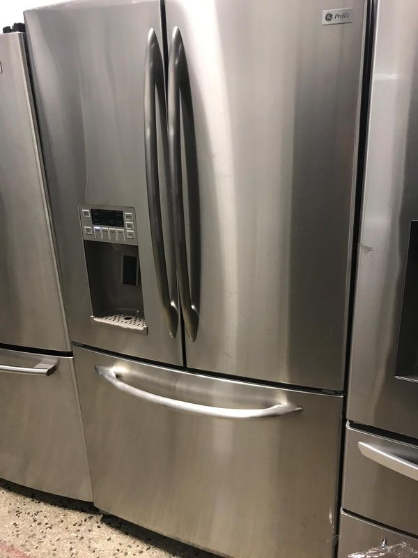 36by69 GE PROFILE FRENCH DOOR FRIDGE STAINLESS STEEL WITH WARRANTY