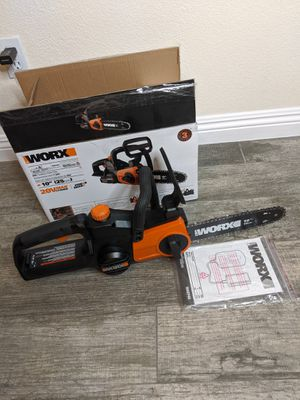 "Worx 10"" cordless chainsaw with auto tension for Sale in North Las Vegas, NV"