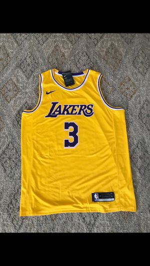 Brand new la Lakers Heat Pressed Basketball Jersey Nike AD #3 for Sale in Huntington Beach, CA