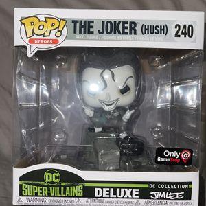 Funko Pop! The Joker (Hush) 240 Deluxe Black & White Jim Lee Gamestop Excl O05 for Sale in Hawthorne, CA