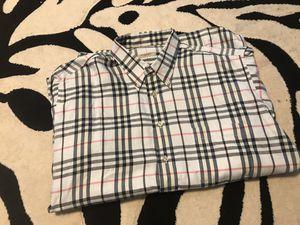 Burberry plaid XL men shirt for Sale in Sacramento, CA