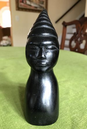 Carved wood African statue standing 6 1/2 inches tall for Sale in West Palm Beach, FL