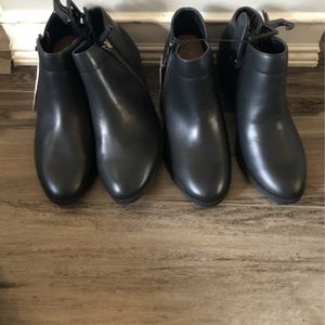 Black boots size 7 1/2 for Sale in Allen Park, MI