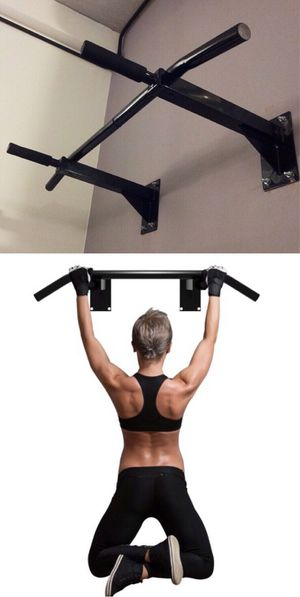New in box 38 x 20 inch depth heavy duty wall mount pull up bar exercise chin up bar 440 lbs capacity for Sale in Covina, CA