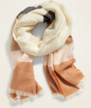 Cream Combo Oversized Flannel Scarf for Sale in Indian Trail, NC