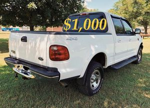 $1,OOO For sale URGENT 2OO2 Ford F-150 XLT Super Crew Cab 4-Door Pickup Everything is working great! Runs great and fun to drive!!!! for Sale in Richmond, VA