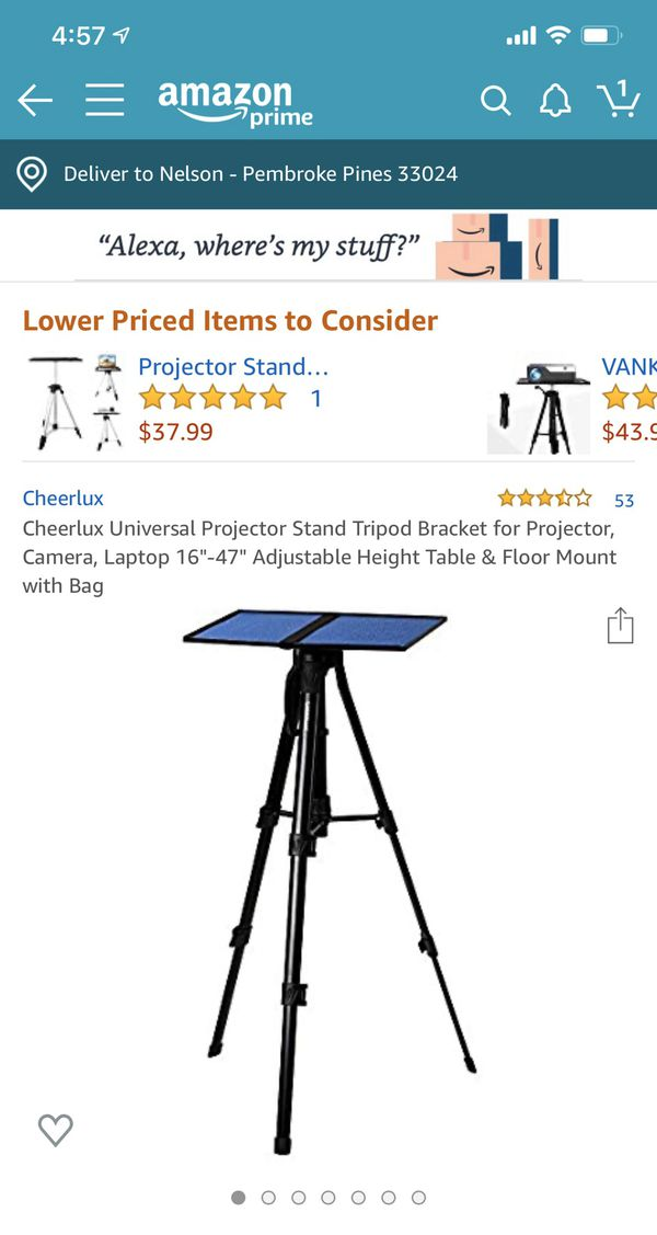 """Projector 3200 Lumens + 120"""" HD projector screen + stand."""