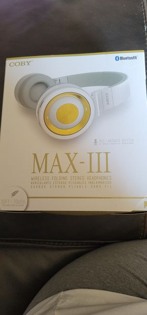 COBY WIRELESS HEADPHONES $25 for Sale in Chula Vista, CA