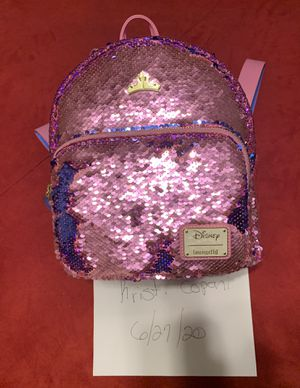 Pink and blue aurora mini Loungefly backpack for Sale in Leesburg, FL