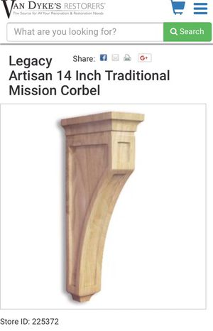 Maple solid wood Corbel unused from kitchen cabinet remodeling for Sale in Springfield, VA