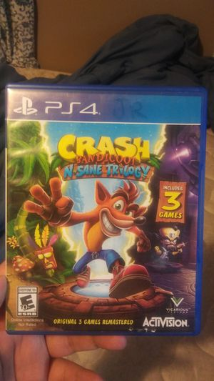 Crash bandicoot n sane trilogy ps4( 3 games in 1 disc.) for Sale in Dallas, TX