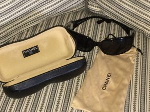 Authentic Chanel double C logo sunglasses with dust bag and case for Sale in Niles, IL