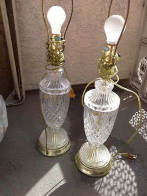 24% LEAD CRYSTAL LAMP for Sale in Santa Monica, CA