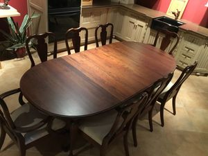Solid Cherry Dining table w/6 Side and 2 arm chairs. Side Buffet also included for Sale in Roanoke, VA