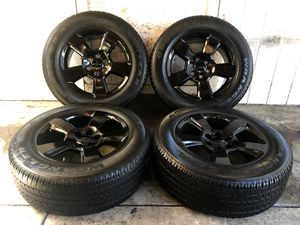 2017 Chevy Tahoe Suburban Silverado FACTORY BLACK Wheels Rims and Tires 275/60/20 for Sale in Santa Ana, CA