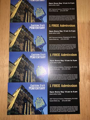 Eastern State Penitentiary Tour Tickets for Sale in Philadelphia, PA
