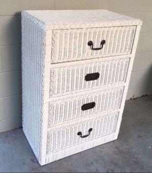 White wicker dresser for Sale in Pinellas Park, FL