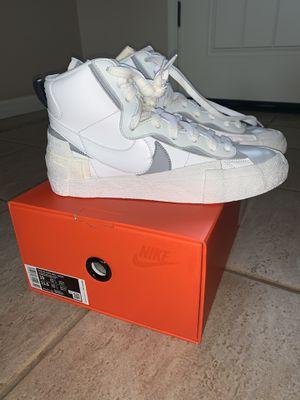 Nike Blazer Mid Sacai White Grey for Sale in Clovis, CA
