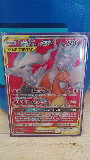 Reshiram and Charizard Full Art Tag Team Card for Sale in Garden Grove, CA